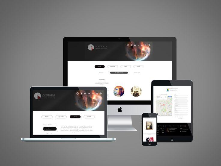 """Popatrz na ten projekt w @Behance: """"Portfolio website"""" https://www.behance.net/gallery/53805705/Portfolio-website"""