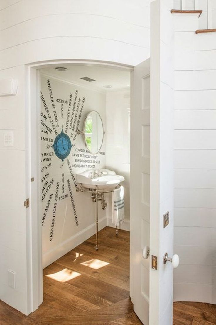 When most people use under the stair for storage, you can try to have different idea. Use it for powder room. It doesn't need large space. You only have to provide sink, bowl, towel holder, mirror, and some accessories if needed. Then, you will have functional under stair room.