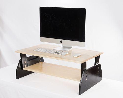 "WallSproutz Standing Desk Converter Dual Level (35"" x 22"" workspace + 32"" x 15"" accessory shelf)  #standingdesk #standupdesk  www.WallSproutz.com"