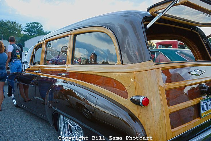 Classic Chevy Woody With Hand Painted Simulated Wood Detailing At Custom Car Show At Mineral