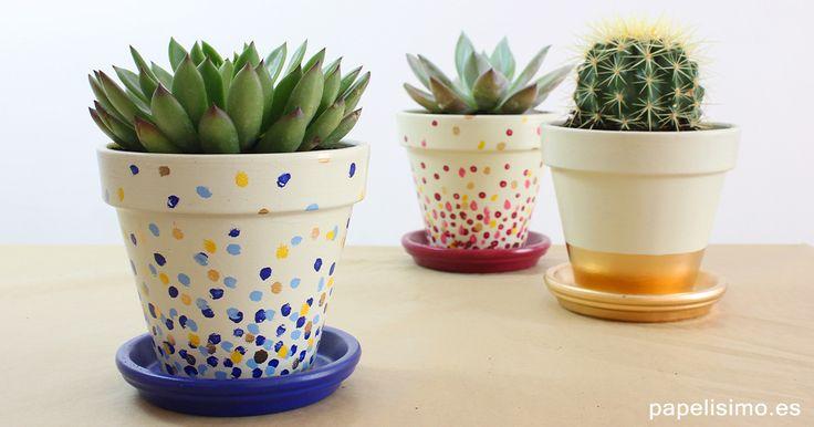 Como pintar macetas how to paint pots