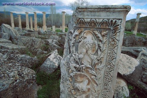 Turkey ruins | Stock Image of Turkey Aphrodisia Baths Of Hadrian Ruins Of Greco-Roman ...