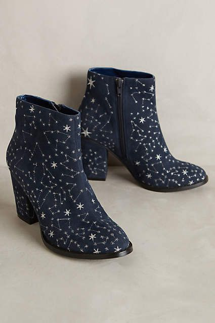 Well, the heels are a little too high for me but other than that, these booties rock! Billy Ella Embroidered Star Booties - anthropologie.com