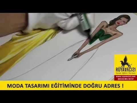 moda tasarimi cizim teknikleri izle guzel sanatlara hazirlik resim kursu ruya avcisi - YouTube