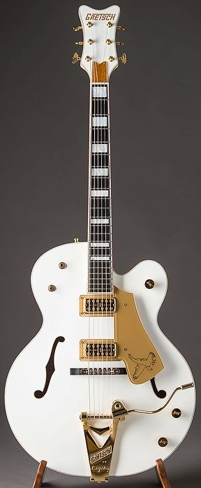 Gretsch White Falcon --- https://www.pinterest.com/lardyfatboy/