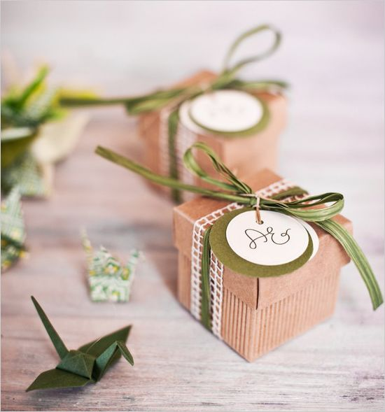 Sweet wedding favor boxes