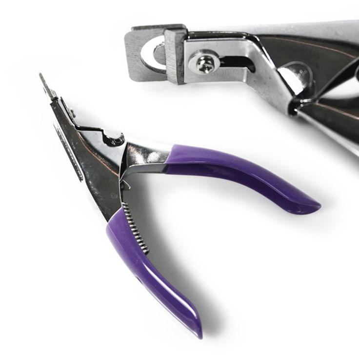 Purple Stainless Steel Edge Nail Clipper Manicure Acrylic UV Gel False Tips Nail Cutter