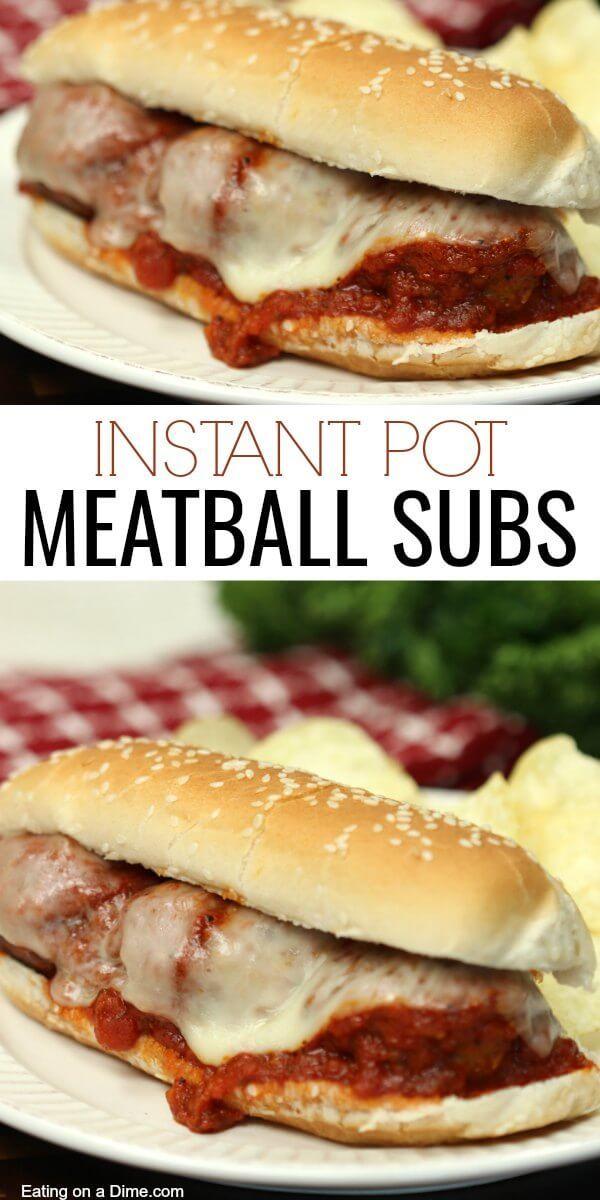 Instant Pot Meatball Sandwich