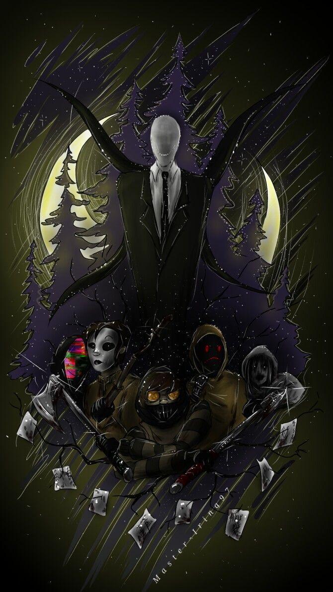 Slenderman, Rouge, Masky, Hoodie and Toby | Creepypasta