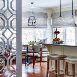 lattice panelled room divider with kitchen island and midcentury rh pinterest com