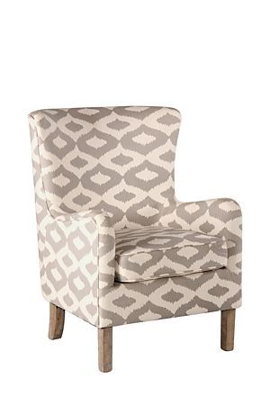 Our Lexington occasional chair is perfect for your lounge as a single or in pairs. Upholstered in a cotton linen blend with geometric influences, this is a key piece for your urban lounge or study setting.