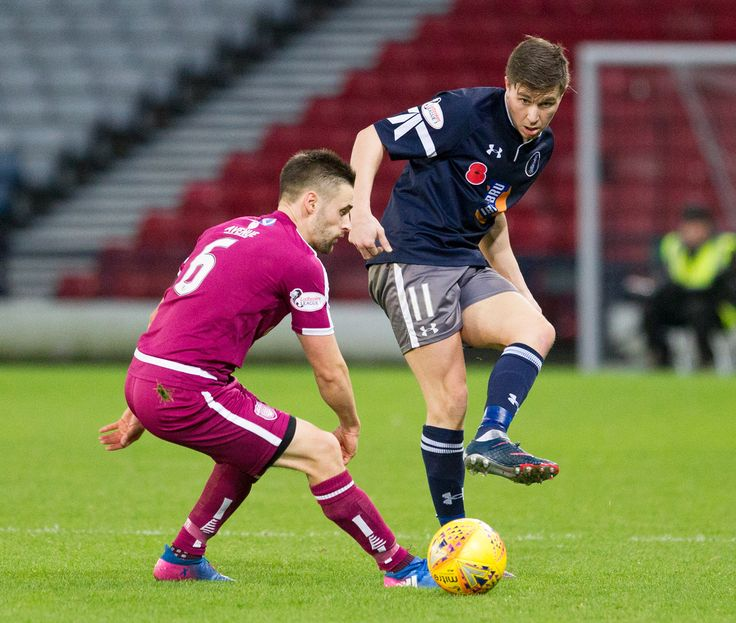 Queen's Park's Sean Burns in action during the SPFL League One game between Queen's Park and Arbroath.