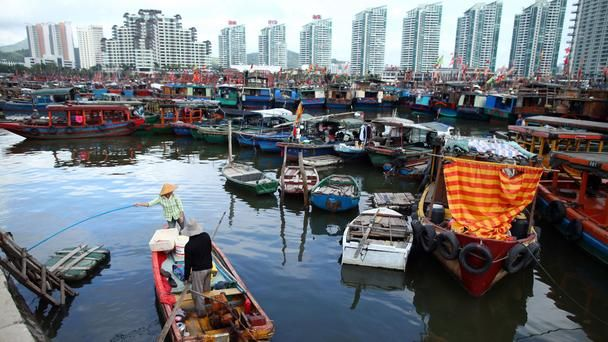 The harbour in Haikou, Hainan, China