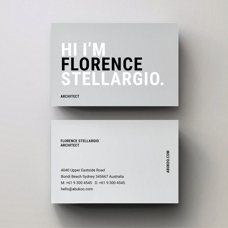 Graphic Design Inspiration Architecture Blog Business Card Design Minimalist Graphic Design Business Card Business Card Graphic