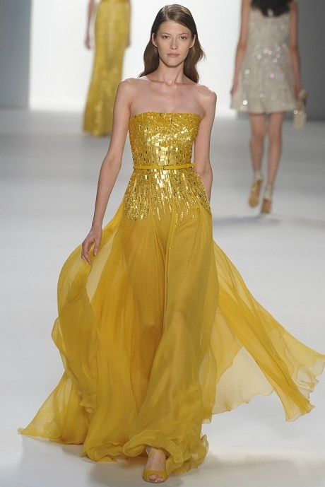 Elie Saab 2012  #elie #saab: Eliesaab, Elie Saab, Bridal Dresses, Bridesmaid Dresses, Mellow Yellow, Ellie Will Be, Gowns, Chiffon Dresses, Mustard Yellow