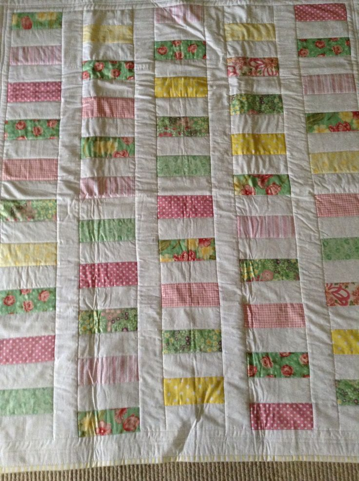 Baby quilt, made 2014
