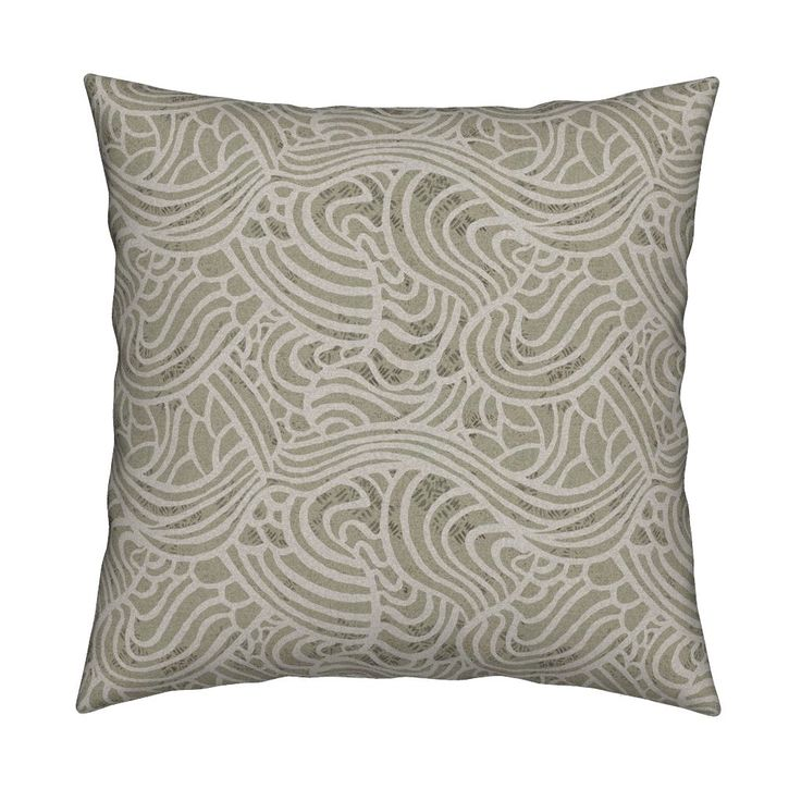 Catalan Throw Pillow featuring tidal_foam_and_egret_soft_version by mariden | Roostery Home Decor