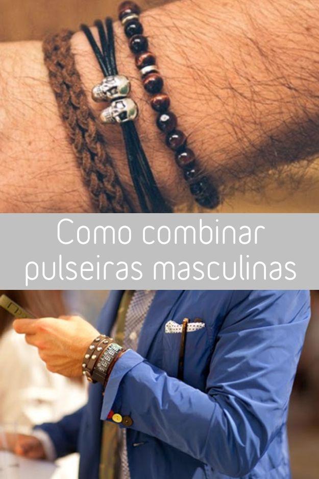Para dar um toque extra no visual do fim de semana, que tal apostar nas pulseiras?  Para facilitar a vida, olha esse guia de como combinar as pulseiras masculinas. :)  #Pulseirismo #Pulseira #Masculino #Moda