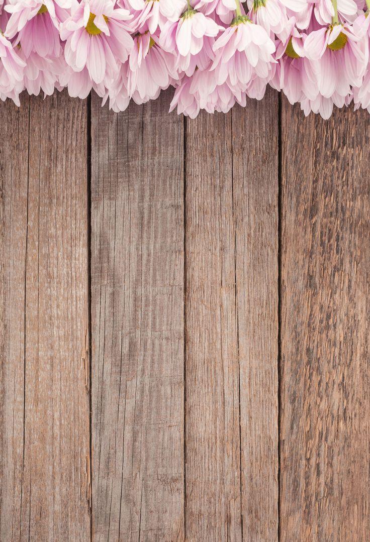 Wooden Backdrop Flower Backdrop Floral Backgrounds Wood Floor J05049