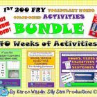 40 Weeks of Color-Coded PowerPoint and Pocket Chart Sentences for Word Work and Center Activities to reinforce the 1st 200 Fry Vocabulary Words!   ...