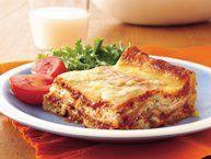 Easy Bacon Cheeseburger Lasagna recipe from Betty Crocker