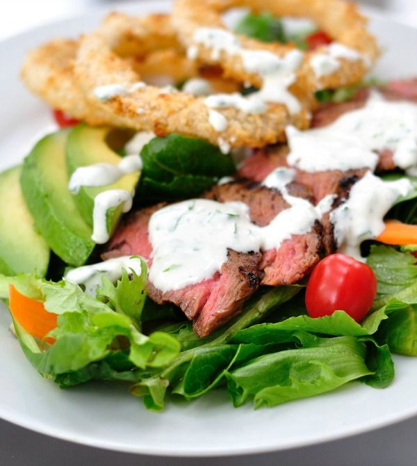 Recipe For Steakhouse Salad with Creamy Horseradish Dressing