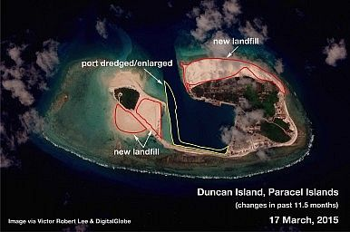Duncan Island, South China Sea http://thediplomat.com/2015/04/south-china-sea-china-is-building-on-the-paracels-as-well/