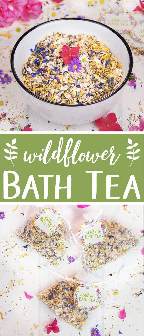 Ein duftender Wildblumen-Badetee ist eine großartige Möglichkeit, sich zu entspannen und Ihre Haut zu pflegen. T …   – Gift ideas