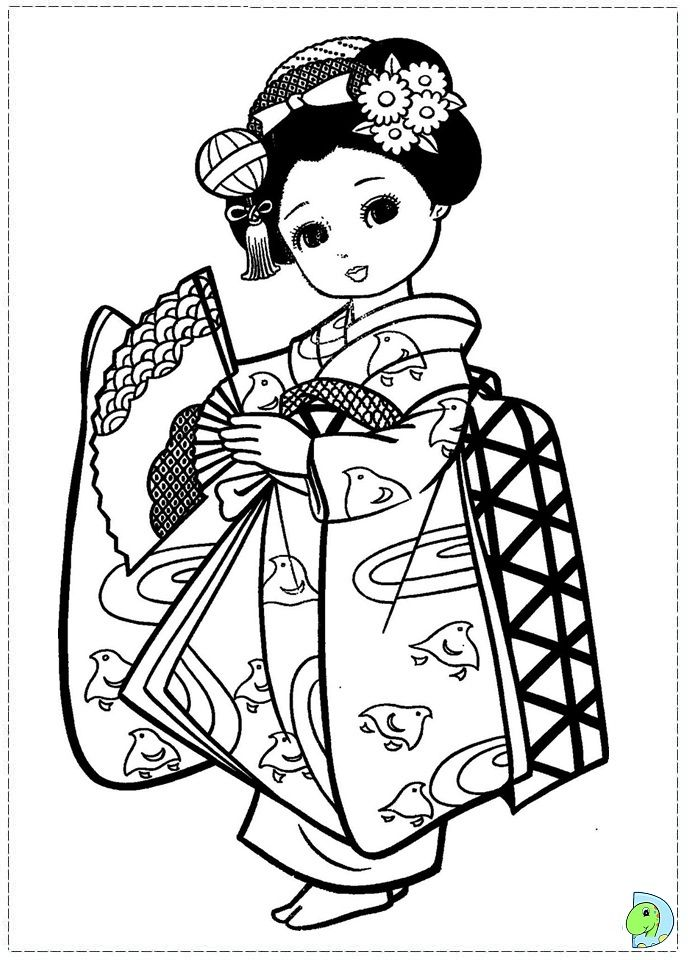 230 best images about Asian Coloring Pages on Pinterest  Dovers