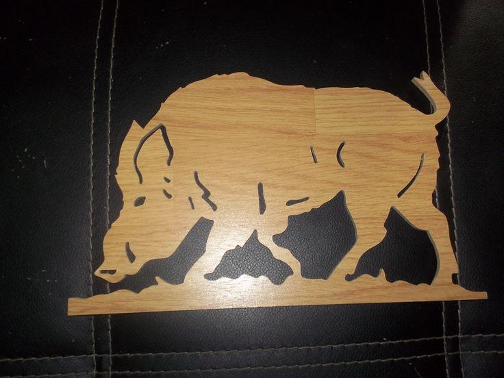 sanglier chantournage ,dentelle sur bois Pinterest # Animaux En Bois Découpé