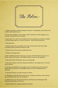 """When Robin and Barney lie to each other for their own good. 