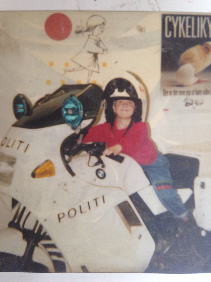 Me on a police motor bike (1991) don't worry I'll grow into it :)