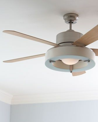 Satin Nickel Ceiling Fan At Horchow