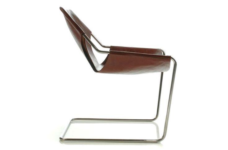 Freischwinger aus Leder PAULISTANO   Stuhl aus Leder - Objekto