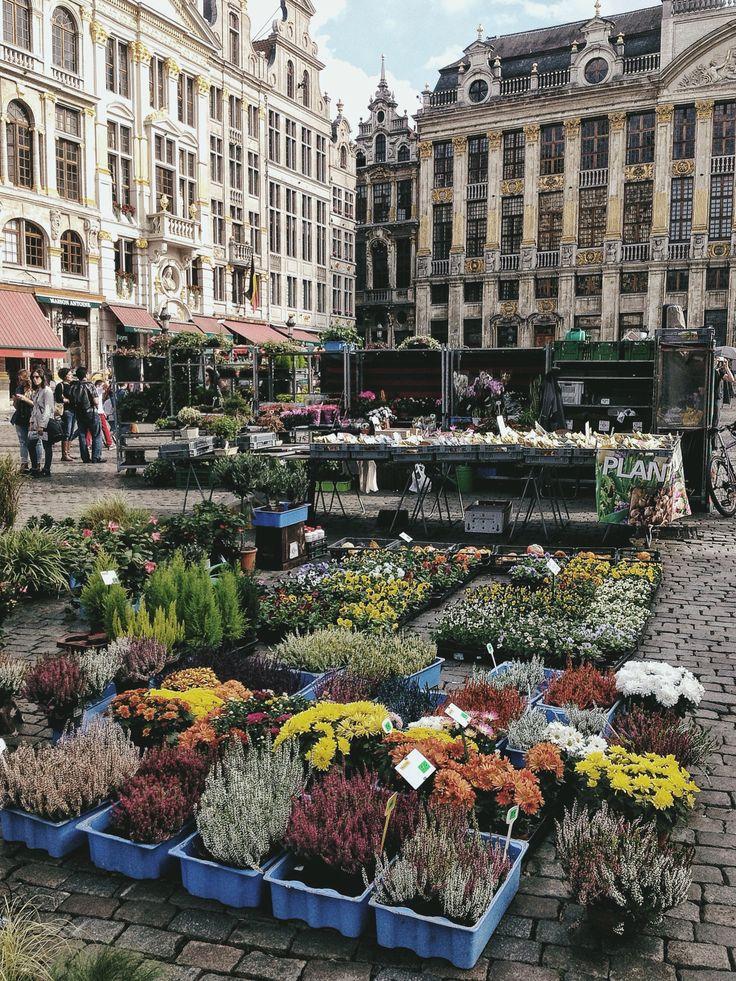 Flower market in Brussels
