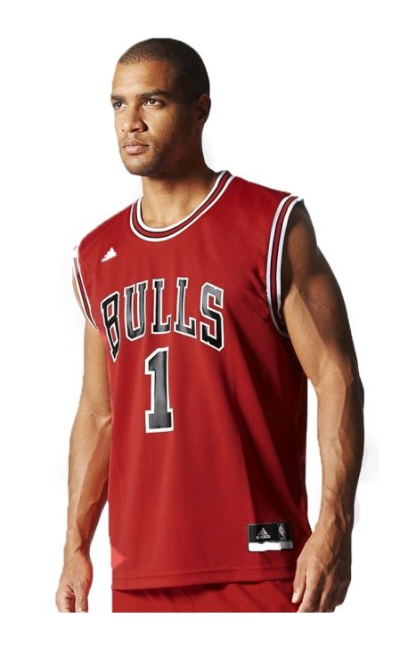 Maillot adidas Originals Int Replica Jersey NBA Bulls 1 Rouge