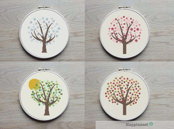 Hey, I found this really awesome Etsy listing at https://www.etsy.com/listing/211501790/4-cross-stitch-patterns-tree-4-seasons