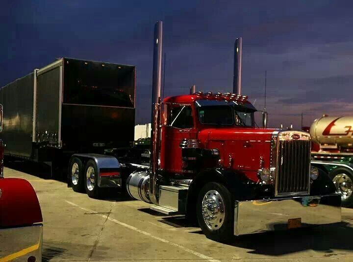 Old school Peterbilt - US Trailer can buy used trailers in any condition to or from you. Contact USTrailer and let us rent your trailer. Click to http://USTrailer.com or Call 816-795-8484