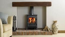 Wood burning stove for living room - Victoria Stone in TW