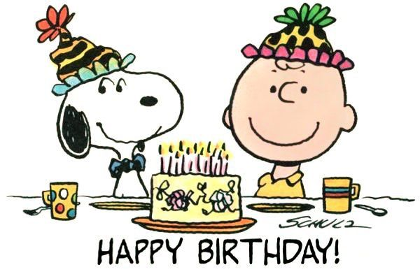Happy Birthday - Charlie Brown and Snoopy
