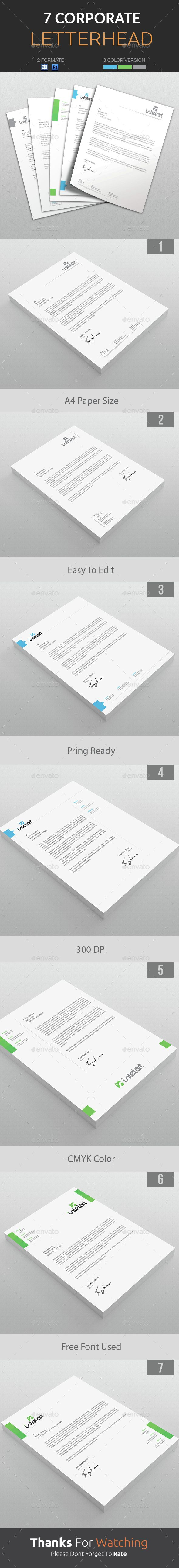 Company #Letterhead Template is an awesome letterhead design suitable for companies and individual entrepreneurs. Download http://graphicriver.net/item/letterhead/15112460?ref=themedevisers