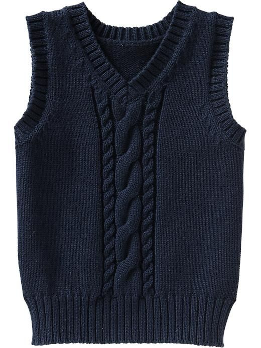 Cable-Knit Sweater Vests for Baby