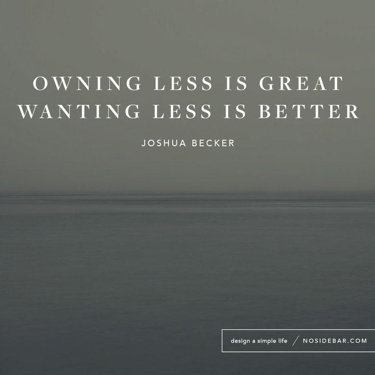 Less- a minimalism blog