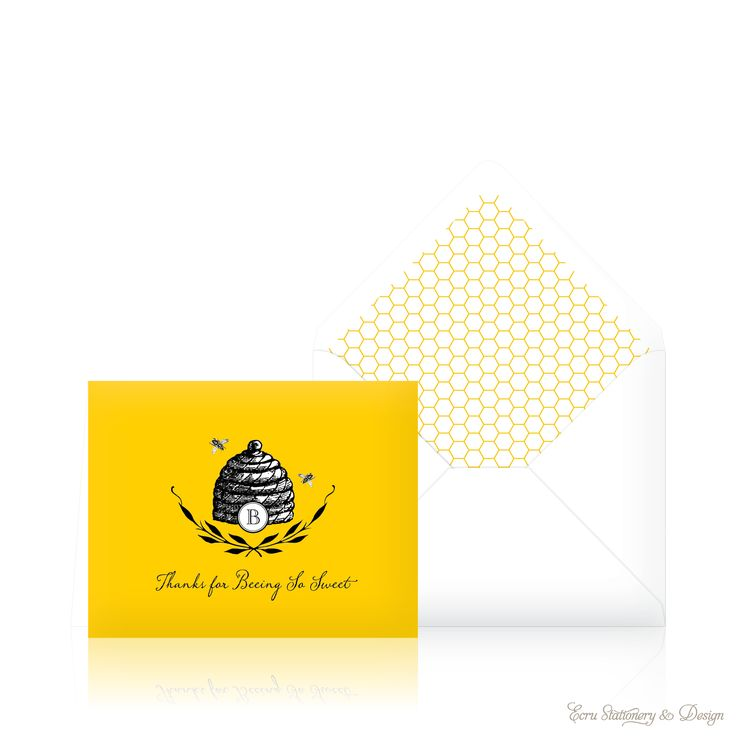 """thank you for beeing so sweet"" cards with baby bumble bee-Ecru Stationary & Design"