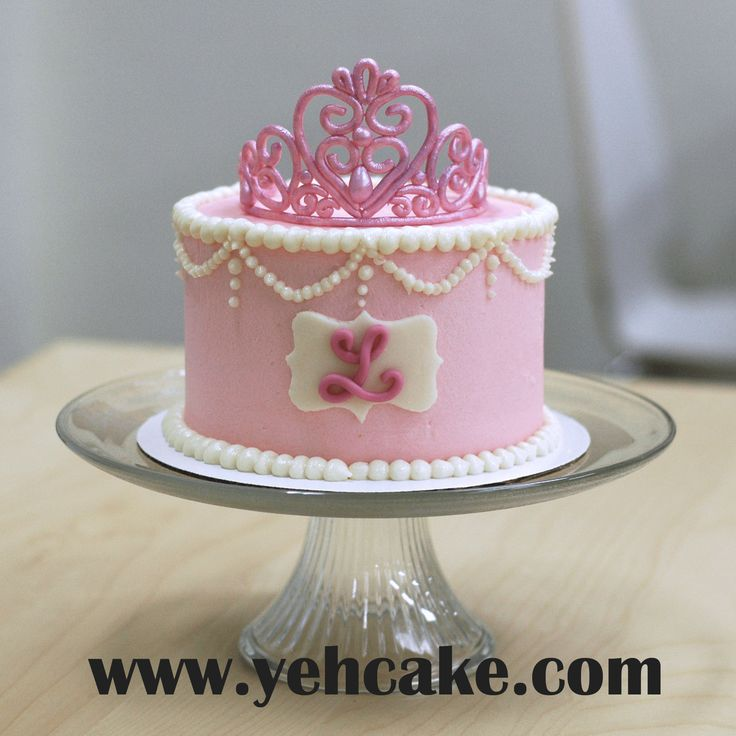 Princess Cake Topper Personalized Tiara Birthday With Edible Cakes