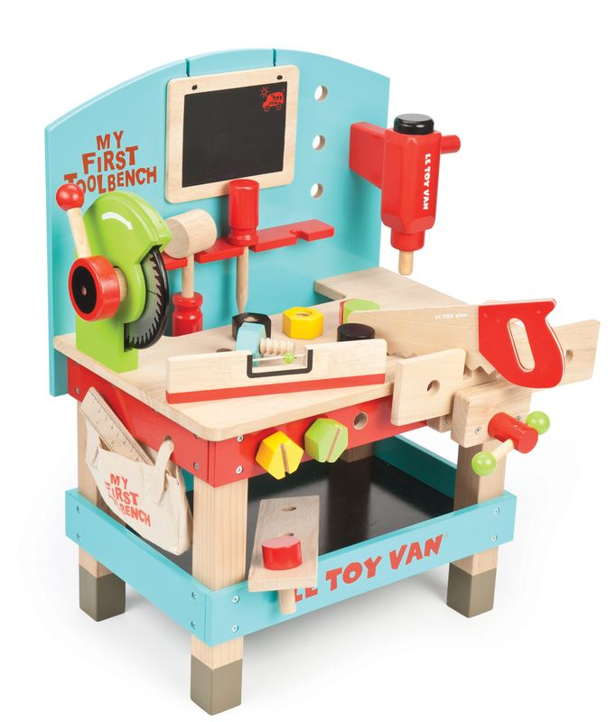 LETV448 - My First Tool Bench by Le Toy Van. Distributed by Kaleidoscope.