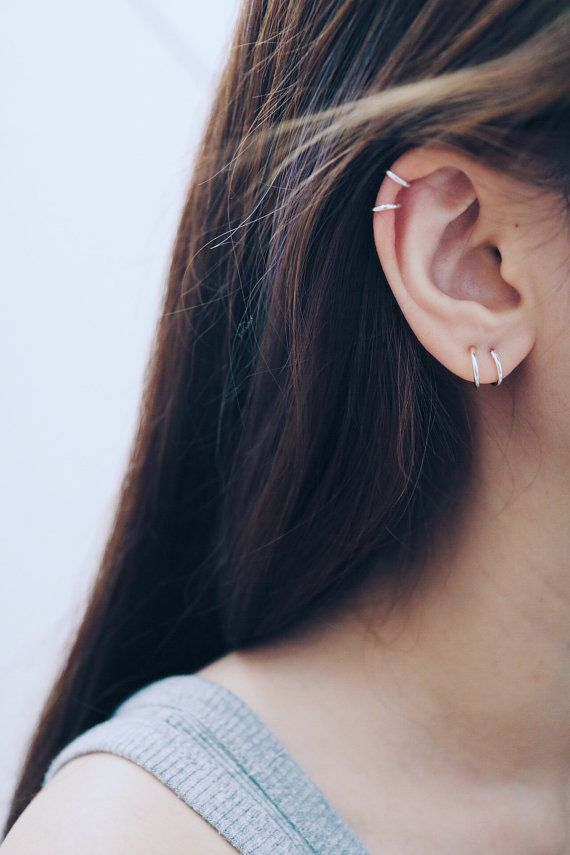8mm & 10mm Hoop Earrings Cartilage Hoop by happylittledainty
