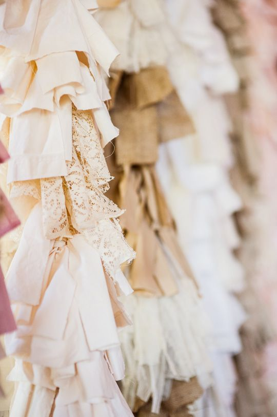 Wedding Lush blush ruffle backdrop, linen backdrop, creative and unique inspiration for walls