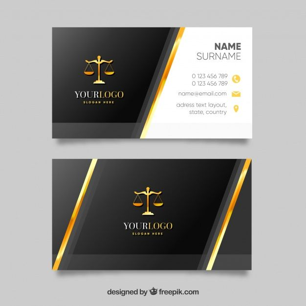 Lawyer Card Template Free Vector Free Vector Freepik Vector Freelogo Freebus Lawyer Business Card Design Business Card Ideas Unique Business Cards Design