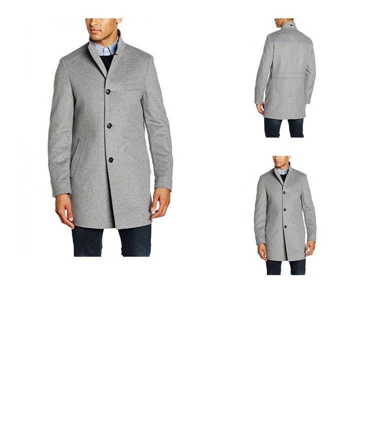 8719112761045 | #Tommy #Hilfiger #Tailored #Herren #Mantel #Garren #OTWSLD16401, #Grau #(005 #005), #Small #(Herstellergröße: #46)
